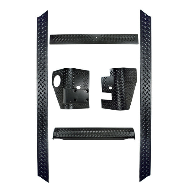 6 Piece Body Armor Kit by Rugged Ridge ('97-'06 Jeep Wrangler TJ)