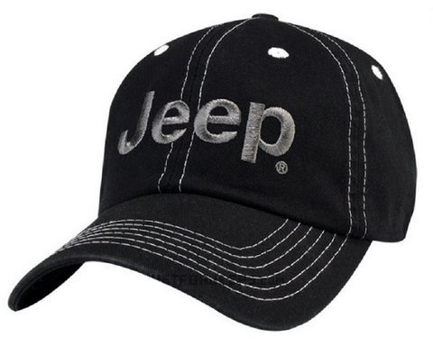 Black & Gray Jeep Logo Hat