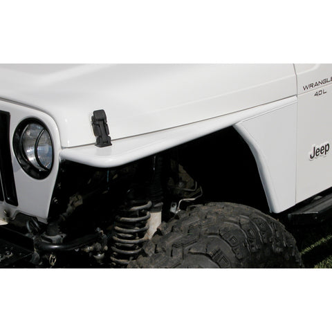 RRC Tubular Steel Flat Fender Kit by Rugged Ridge ('97-'06 Jeep Wrangler TJ)