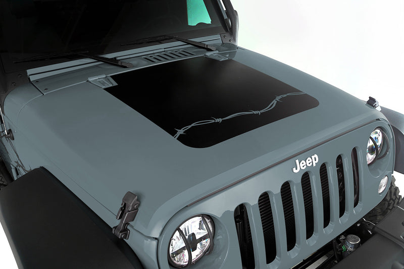 Jeep hood decal - barbed wire