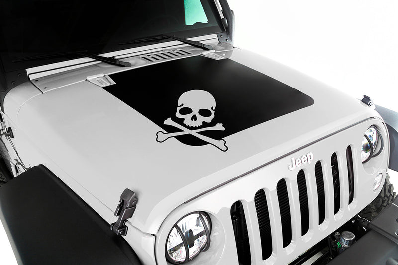 Jeep hood decal - skull