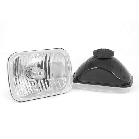 Crystal H2 Headlights, Rectangular by Rugged Ridge ('87-'95 Jeep Wrangler YJ)