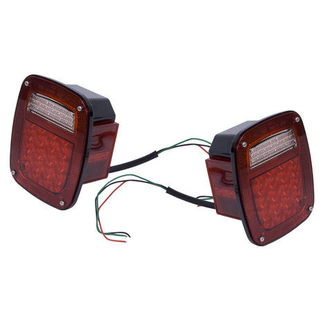 LED Tail Light Set by Rugged Ridge ('76-'06 Jeep Wrangler CJ, YJ, TJ)