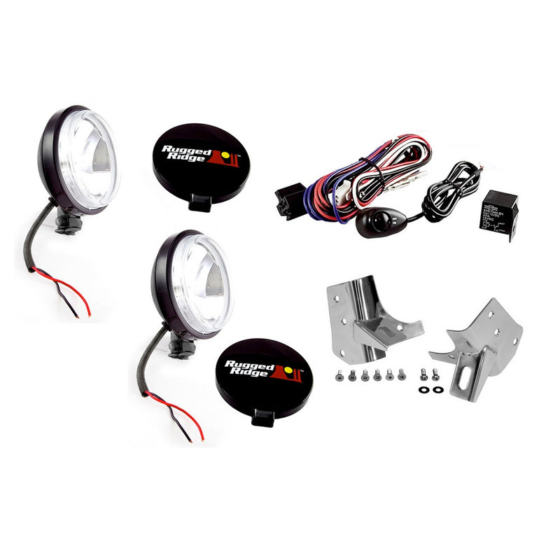 Windshield Light Mount Kit by Rugged Ridge ('97-'06 Jeep Wrangler TJ)