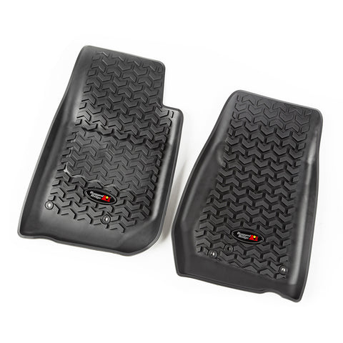 Floor Liners, Front, Black by Rugged Ridge ('07-'17 Jeep Wrangler JK)