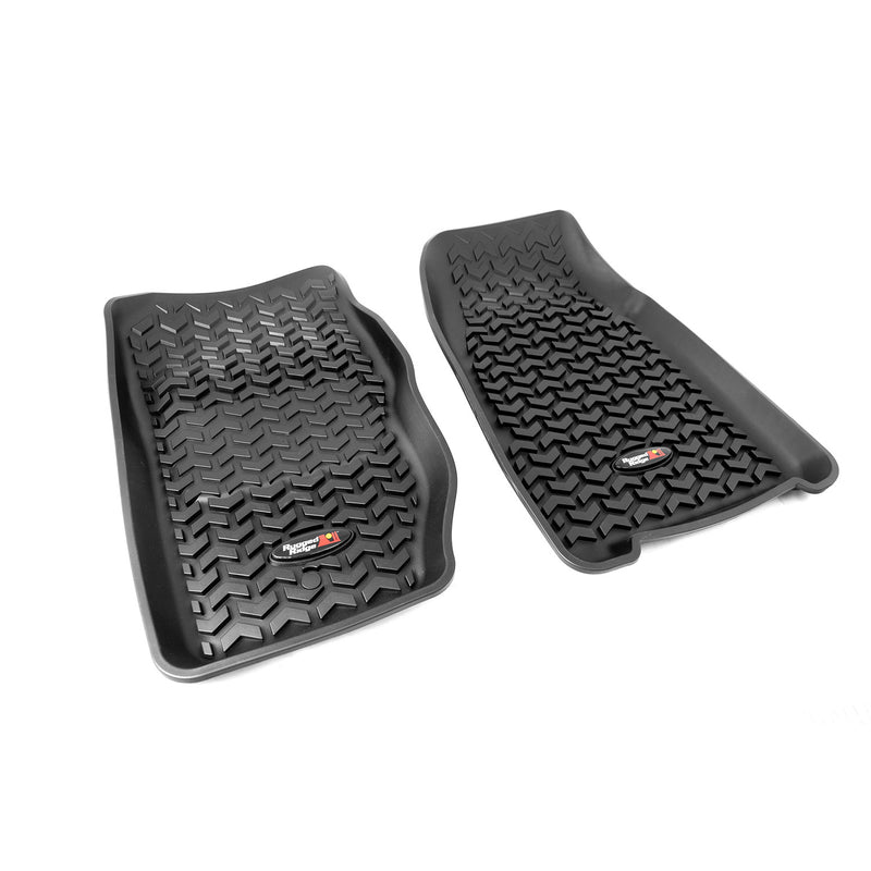 Floor Liners, Front, Black by Rugged Ridge ('84-'01 Jeep Cherokee XJ)