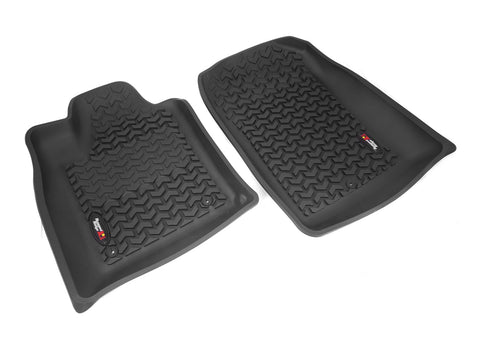 Floor Liners, Front, Black by Rugged Ridge ('11 Jeep Grand Cherokee WK)