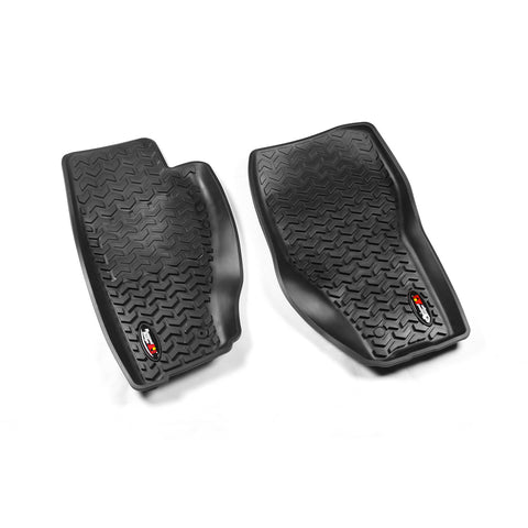 Floor Liners, Front, Black by Rugged Ridge ('08-'12 Jeep Liberty KK)