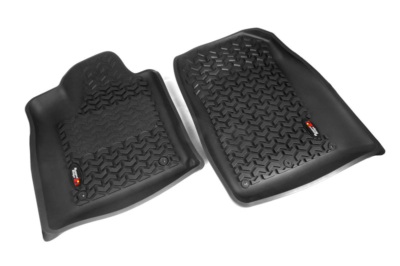 Floor Liners, Front, Black by Rugged Ridge ('12-'18 Jeep Grand Cherokee WK)