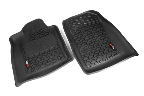 Floor Liners, Front, Black by Rugged Ridge ('12-'17 Dodge Durango/Jeep Grand Cherokee WK)