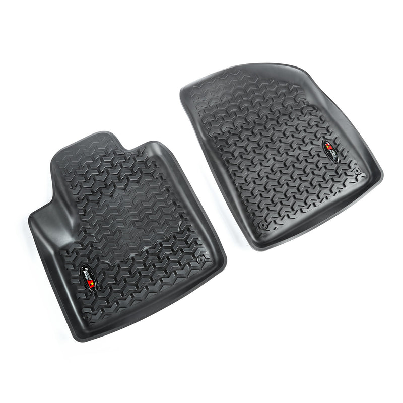 Floor Liners, Front, Black by Rugged Ridge ('14-'18 Jeep Cherokee KL)