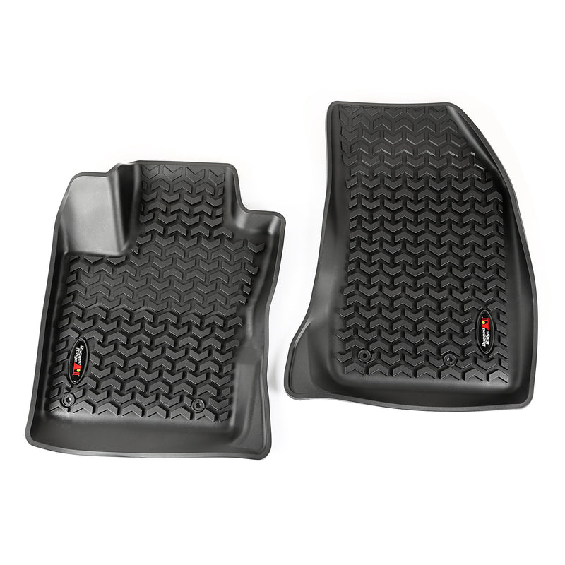 Floor Liners, Front, Black by Rugged Ridge ('15-'18 Jeep Renegade BU)