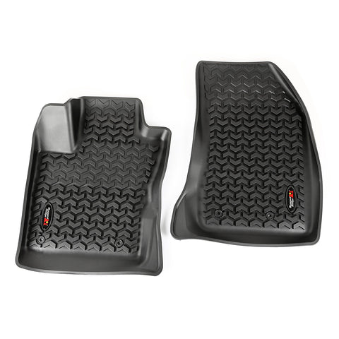 Floor Liners, Front, Black by Rugged Ridge ('15-'17 Jeep Renegade)