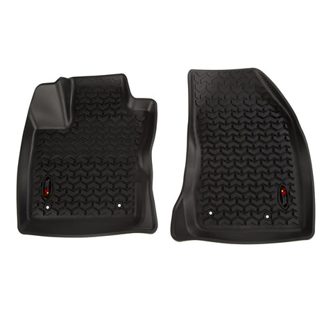 Front Floor Liner Set, Black by Rugged Ridge ('18 Jeep Compass MK 2nd Gen.)
