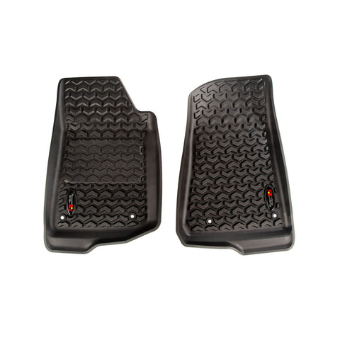 Floor Liner Kit, Front, Black by Rugged Ridge ('18 Wrangler JL)