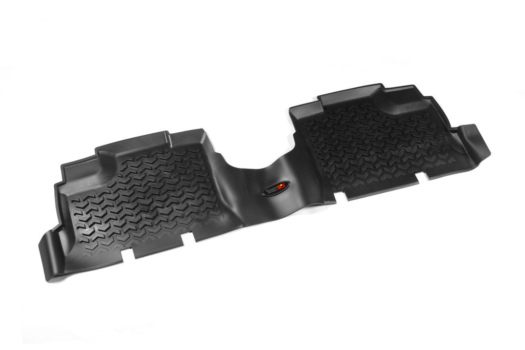 Floor Liners, Rear, Black by Rugged Ridge ('07-'18 Jeep Wrangler JKU) - Jeep World