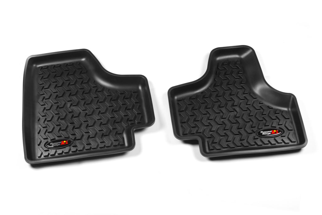 Floor Liners, Rear, Black by Rugged Ridge ('08-'12 Jeep Liberty KK) - Jeep World