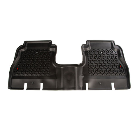 Floor Liner, Rear, Black bt Rugged Ridge ('18 Wrangler JLU 4-Door)