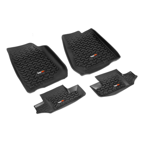 Floor Liners, Kit, Black by Rugged Ridge ('07-'17 Jeep Wrangler JK)