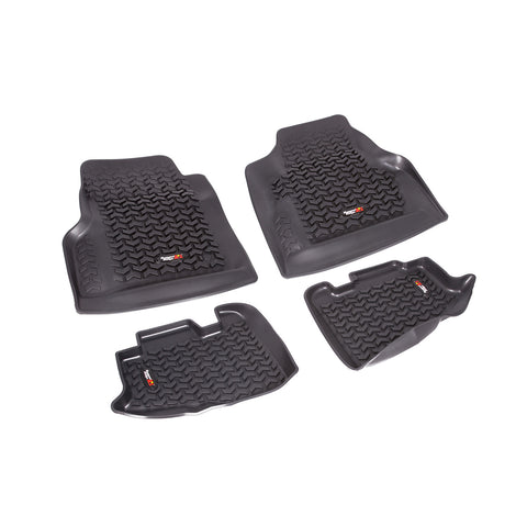 Floor Liners, Kit, Black by Rugged Ridge ('97-'06 Jeep Wrangler TJ, LJ)