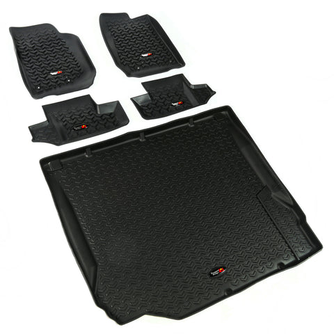 Floor Liners, Kit, Black, 2-Door by Rugged Ridge ('07-'10 Jeep Wrangler JK)