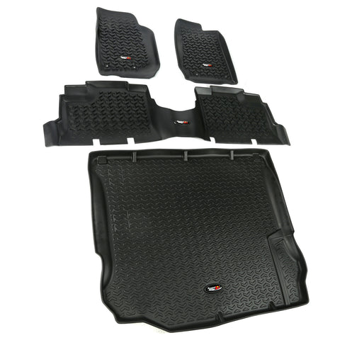 Floor Liners, Kit, Black, 4-Door by Rugged Ridge ('11-'18 Jeep Wrangler JK)