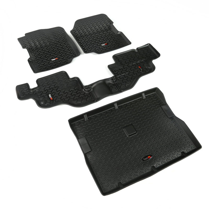 Floor Liners, Kit, Black by Rugged Ridge ('76-'95 Jeep Wrangler CJ, YJ)