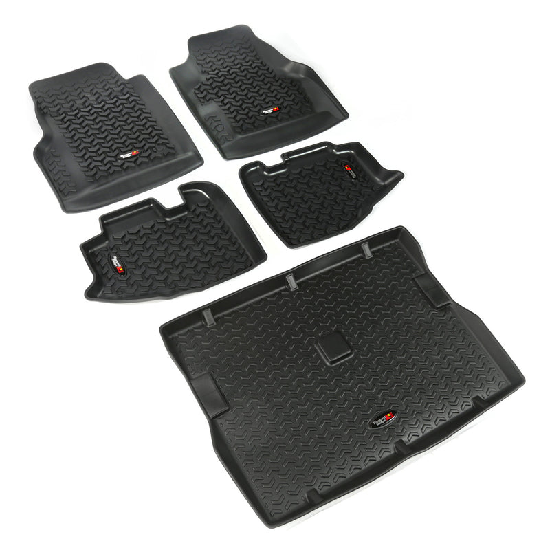 Floor Liners, Kit, Black by Rugged Ridge ('97-'06 Jeep Wrangler TJ)