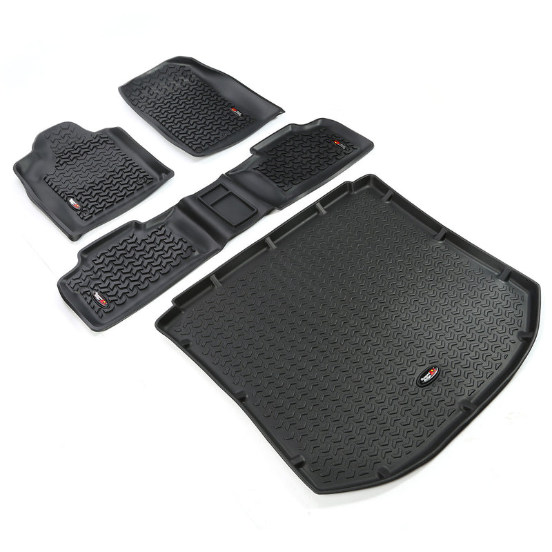 Floor Liners, Kit, Black by Rugged Ridge ('11 Jeep Grand Cherokee WK)