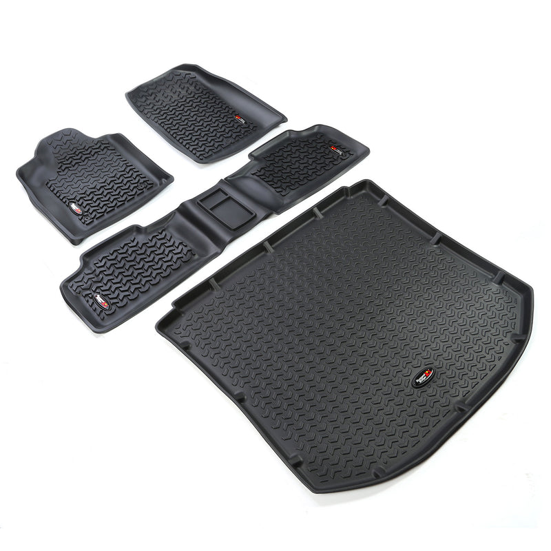 Floor Liners, 4 Piece Kit, Black by Rugged Ridge ('11-'18 Jeep Grand Cherokee WK)