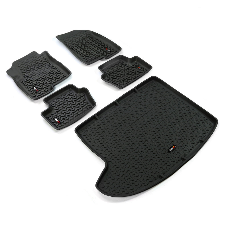 Floor Liners, Kit, Black by Rugged Ridge ('07-'18 Jeep Compass/Patriot MK)