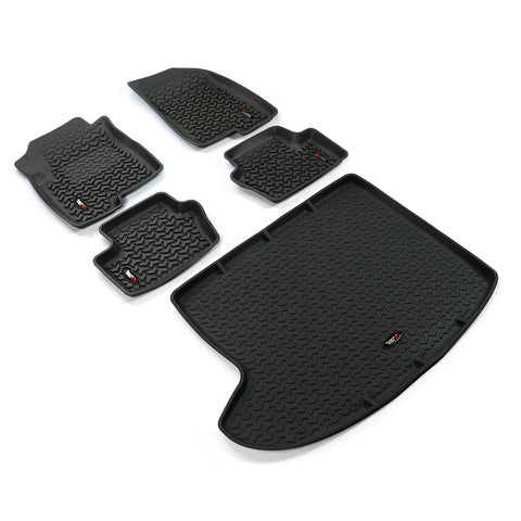 Floor Liners, Kit, Black by Rugged Ridge ('07-'17 Jeep Compass/Patriot MK)