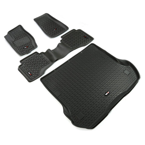 Floor Liners, Kit, Black by Rugged Ridge ('05-'10 Jeep Grand Cherokee WK)