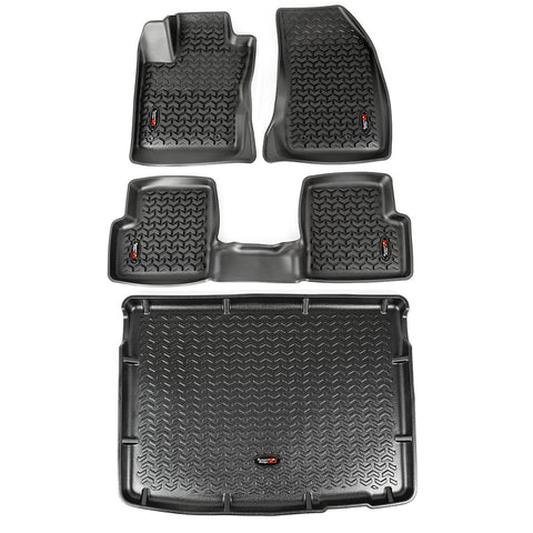 Floor Liners, Kit, Black by Rugged Ridge ('15-'18 Jeep Renegade BU)