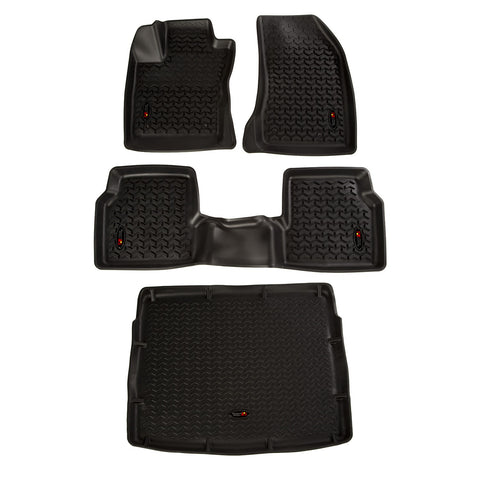 ALL TERRAIN FLOOR LINER SET, BLACK; 18-19 COMPASS MP