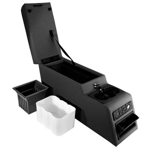 Ultimate Locking Console, Black by Rugged Ridge ('76-'95 Jeep Wrangler CJ, YJ)