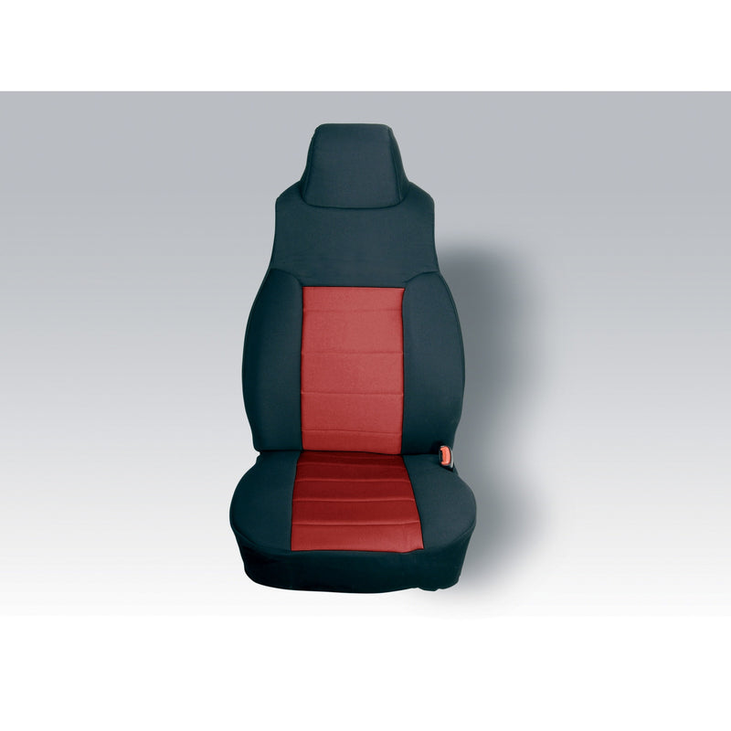 Neoprene Front Seat Covers, Red by Rugged Ridge ('91-'95 Jeep Wrangler YJ)