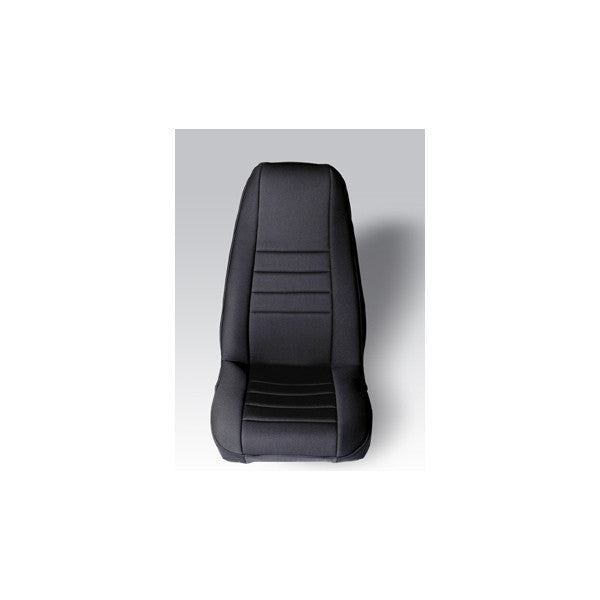 Neoprene Front Seat Covers, Black by Rugged Ridge ('76-'90 Jeep Wrangler CJ, YJ)