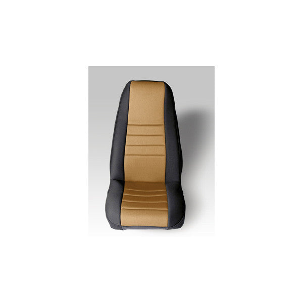 Neoprene Front Seat Covers, Tan by Rugged Ridge ('76-'90 Jeep Wrangler CJ, YJ)