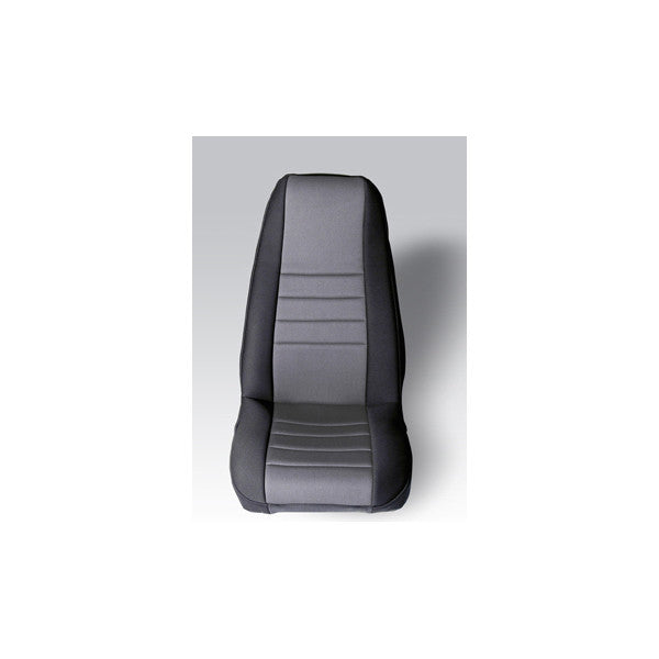 Neoprene Front Seat Covers, Gray by Rugged Ridge ('76-'90 Jeep Wrangler CJ, YJ)