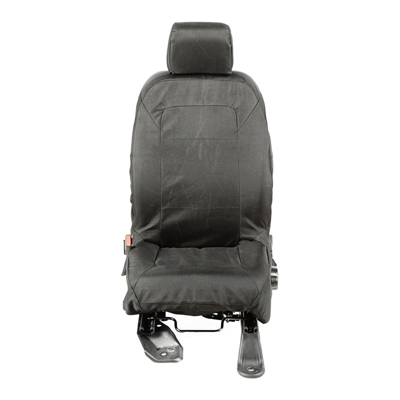 Elite Ballistic Seat Cover Set, Front, Black by Rugged Ridge ('11-'18 Jeep Wrangler JK)