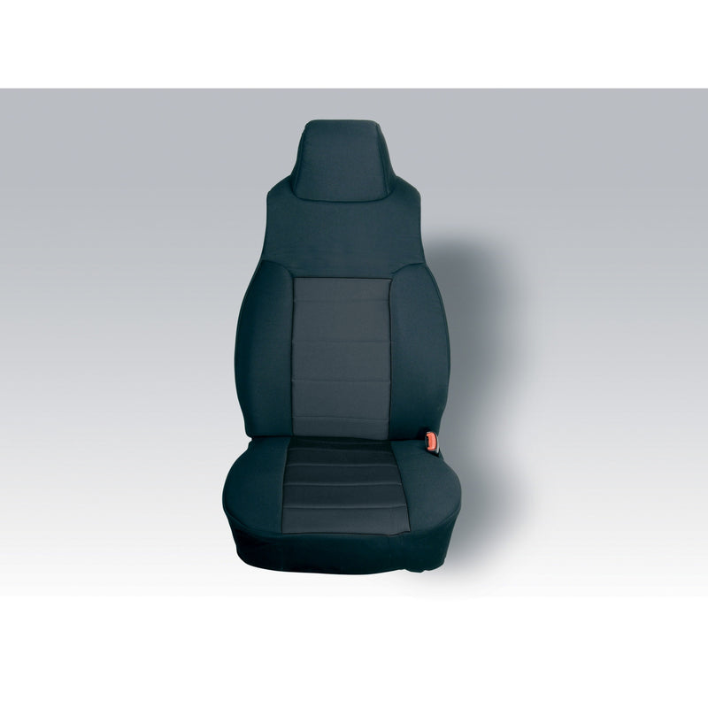 Fabric Front Seat Covers, Black by Rugged Ridge ('91-'95 Jeep Wrangler YJ)