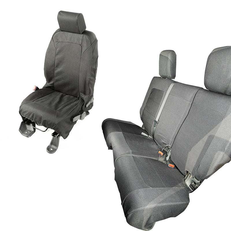 Elite Ballistic Seat Cover Set, 4 Door by Rugged Ridge ('07-'10 Jeep Wrangler JKU)