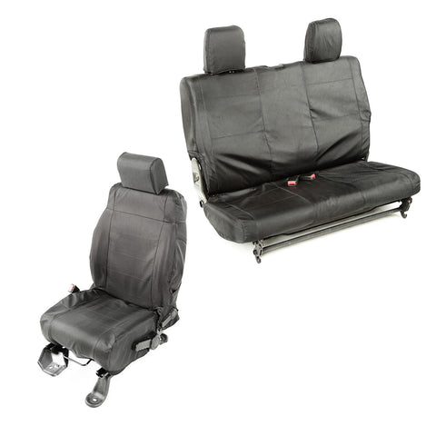 Ballistic Seat Cover Set 2 Door By Rugged Ridge 07 10