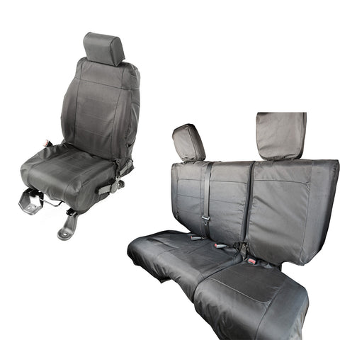 Ballistic Seat Cover Set, 4 Door by Rugged Ridge ('07-'10 Jeep Wrangler JKU)