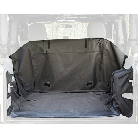 Rugged Ridge C3 Cargo Cover, 2-Door w/Subwoofer; ('07-'14 Jeep Wrangler JK)