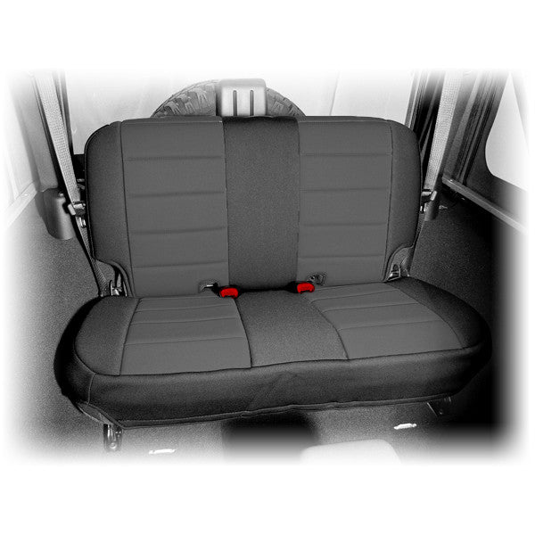Neoprene Rear Seat Cover, Black by Rugged Ridge ('07-'18 Jeep Wrangler JK)