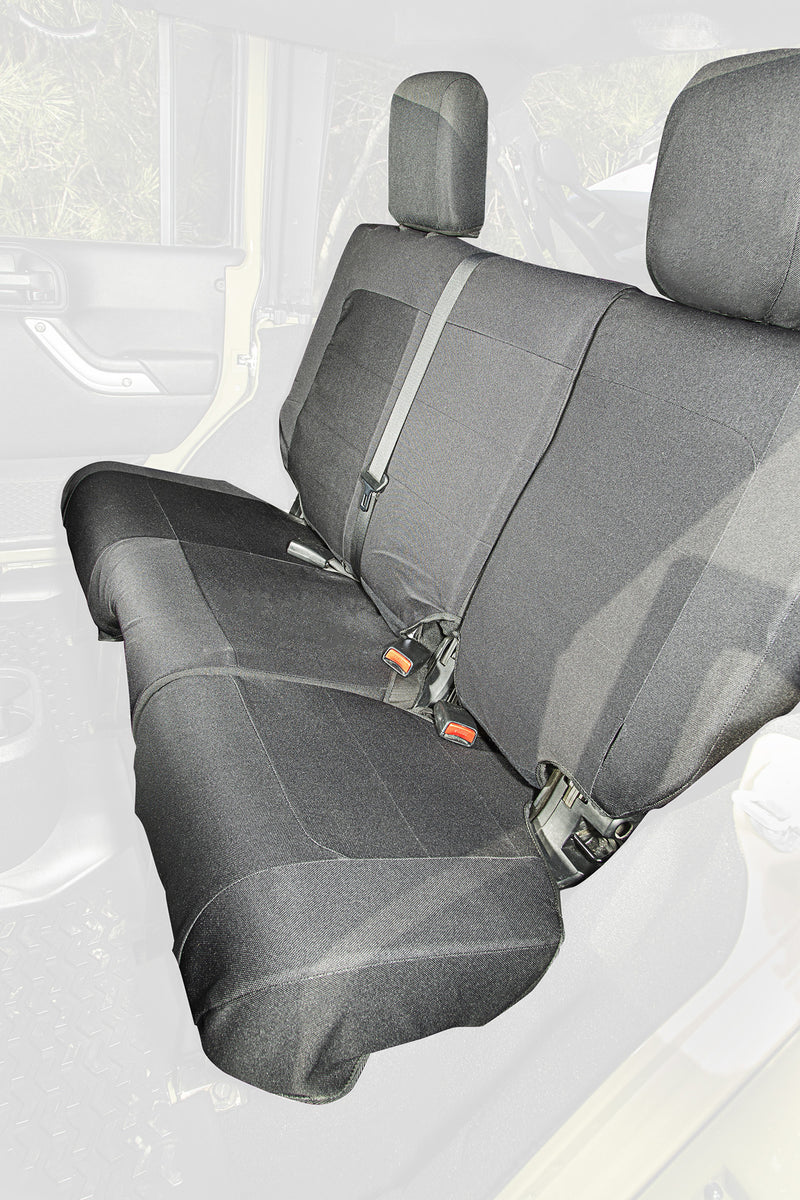 Elite Ballistic Seat Cover, Rear, Black, 4 Door by Rugged Ridge ('07-'10 Wrangler JKU)