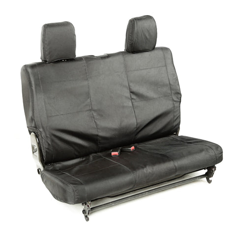 Ballistic Seat Cover, Rear, Black, 2 Door by Rugged Ridge ('07-'10 Jeep Wrangler JK)