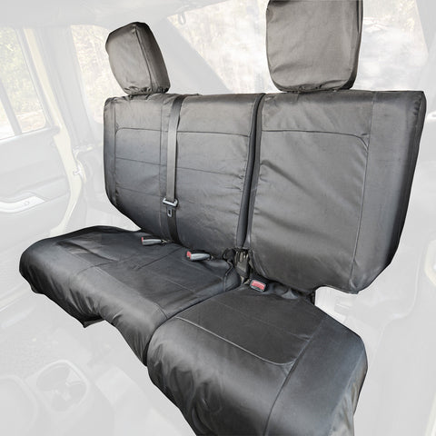 Ballistic Seat Cover, Rear, Black, 4 Door by Rugged Ridge ('11-'17 Jeep Wrangler JKU)